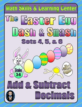 Easter Egg Dash & Smash Game Cards (Add & Subtract Decimal