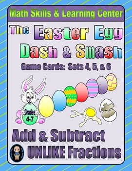Easter Egg Dash & Smash Game Cards (Add & Subtract Unlike