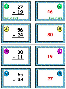 Easter Egg Dash & Smash Game Cards (Add & Subtract Within 100) Sets 4-5-6