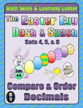 Easter Egg Dash & Smash Game Cards (Compare & Order Decimals) Sets 4-5-6