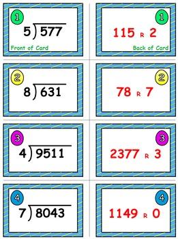Easter Egg Dash & Smash Game Cards (Division of 3-&4-Digit Dividends) Sets 4-5-6