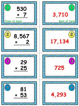 Easter Egg Dash & Smash Game Cards (Multiply Whole Numbers) Sets 4-5-6