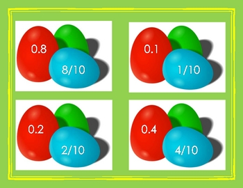 Easter Egg Decimals and Fractions