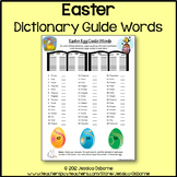 Easter Dictionary Guide Words