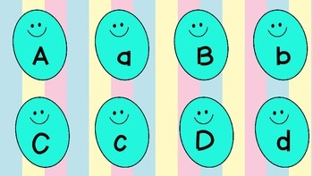 Easter Egg Differentiated Letter and Word Match