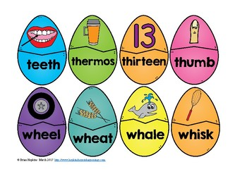 Easter Egg Digraph Puzzles