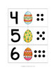 Easter Egg Dot Counting Cards - Set of 10