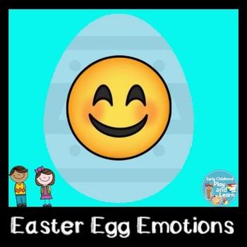 Easter Egg Emoji Stick Puppets