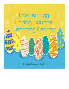 Easter Egg Ending Sound Learning Center