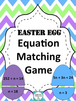Easter Egg Equation Matching Game