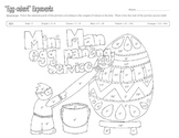 Easter Egg Exponents Coloring Page