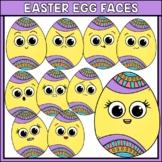 Easter Egg Faces Clipart | Easter Egg Emotions | Easter Clipart