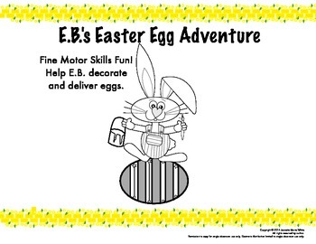 Easter Egg Fine Motor Skills Adventure - Tracing, patterns, writing