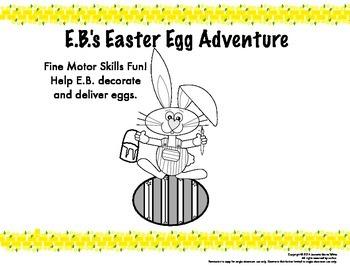 Easter Egg Fine Motor Skills Adventure - Tracing, patterns