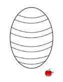 Easter Egg Fingerprint Printable