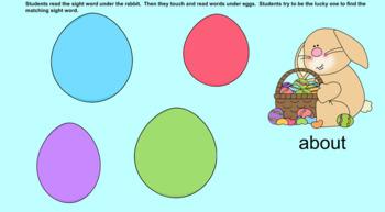 Easter Egg Sight Word Smartboard