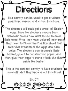 Easter Egg Fraction Basket