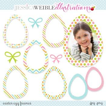 Easter Egg Frames Cute Digital Clipart, Easter Egg Clip Art, Easter Frames