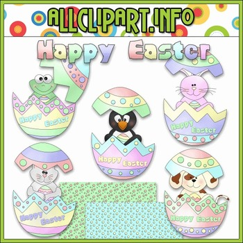 $1.00 BARGAIN BIN - Easter Egg Friends Clip Art