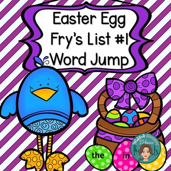 Easter Egg Fry's List 1 Word Jump