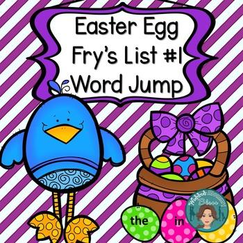 Easter Egg Fry's List 1 Word Jump