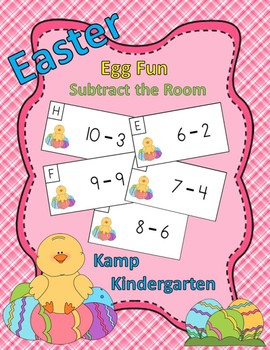 Easter Egg Fun Subtract the Room (Minuends of 6 to 10)