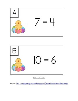 Easter Egg Fun Subtract the Room Minuends of 6 to 10 FREEBIE