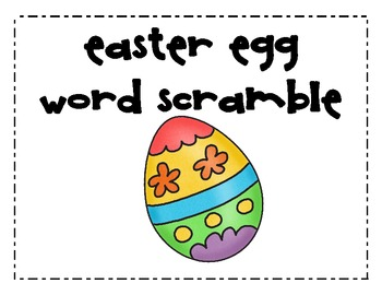 Easter Egg HFW Word Scramble
