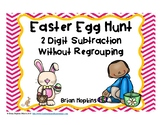 Easter Egg Hunt 2 Digit Subtraction Without Regrouping Task Cards