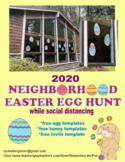 Easter Egg Hunt 2020 Social distancing Free egg templates