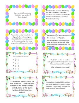 Easter Egg Hunt 4th Grade Math Review