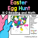 Reading and Math Easter Egg Hunt   Kindergarten and First Grade