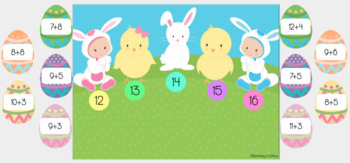 Easter Egg Hunt: Addition Facts 10-20 (Great for Google Classroom)