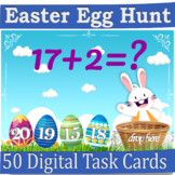 Easter Egg Hunt Addition & Subtraction to 20 Boom Cards Di