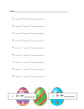 Easter Egg Hunt: Addition and Subtraction