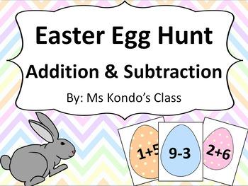 Easter Egg Hunt! - Addition and Subtraction Hunt #1-10