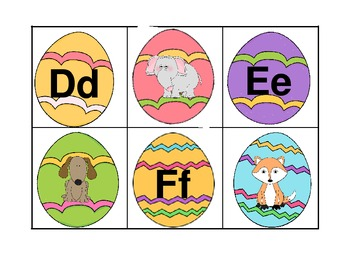 Easter Egg Hunt   Alphabet, Vowels, Digraphs, and b, d, p, q, and g, j, w, y
