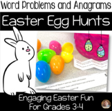 Easter Egg Hunt - Anagrams and Word Problems (2 Egg Hunts included)- Grades 3-4