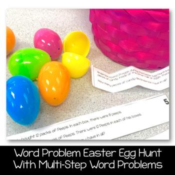 Easter Egg Hunt - Anagrams and Word Problems (2 Egg Hunts included)- Grades 3-4