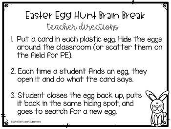Easter Egg Hunt Brain Break