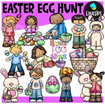 Easter Egg Hunt Clip Art {Educlips Clipart}