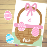 Easter Egg Hunt Color and Number Match⎜Color and Number Ma