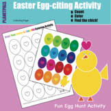Easter Egg Hunt Hatch the Chick Coloring & Learning Page