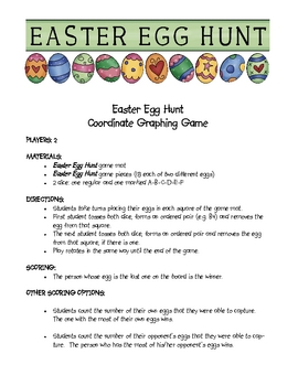 Easter Egg Hunt Coordinate Graphing Game