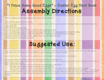 Easter Egg Hunt Count, Read, & Write Book!