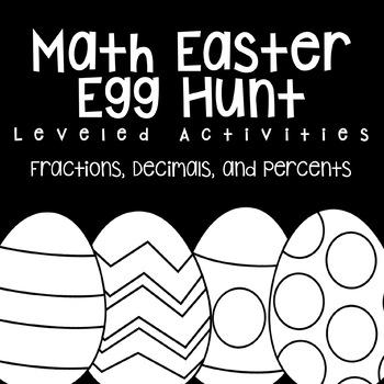 Math Easter Egg Hunt- Fractions