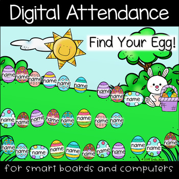 Easter Egg Hunt Digital Attendance (Smart Boards and Computers)