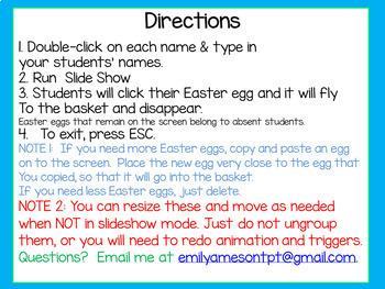 Easter Egg Hunt Digital Attendance (Smart Boards and Computers)