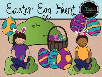 Easter Egg Hunt - Digital Clipart