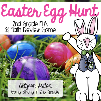 Easter Egg Hunt ELA & Math Review Game